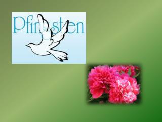 """Pfingsten - woher und wozu ? Der Name Pfingsten wird vom griechischen Wort """" pentekosté """","""
