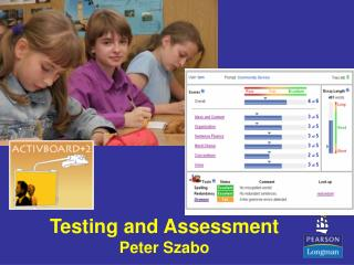 Testing and Assessment  Peter Szabo