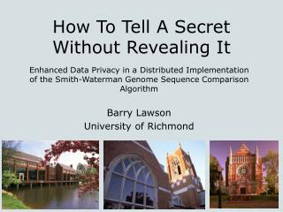 How To Tell A Secret Without Revealing It