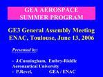 GEA AEROSPACE SUMMER PROGRAM