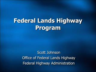 Federal Lands Highway Program