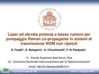 S. Faralli 1 , G. Bolognini 1 , A. Chiuchiarelli 2 , F. Di Pasquale 1