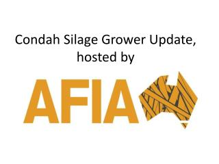 Condah Silage Grower Update,  hosted by