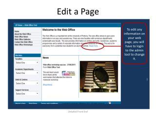Edit a Page