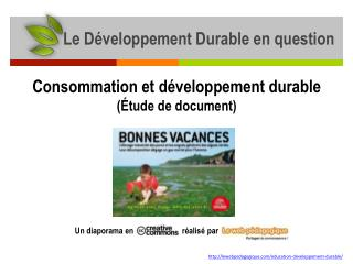 Le D�veloppement Durable en question