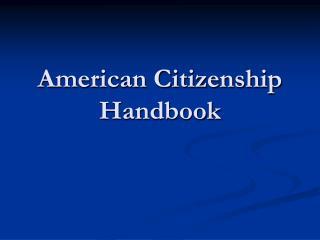 American Citizenship Handbook
