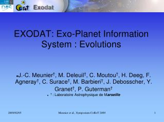 EXODAT: Exo-Planet Information System : Evolutions