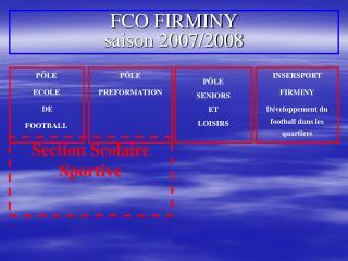 FCO FIRMINY saison 2007/2008