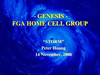 - GENESIS - FGA HOME CELL GROUP
