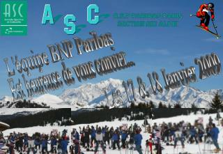 B.N.P PARIBAS PARIS SECTION SKI ALPIN