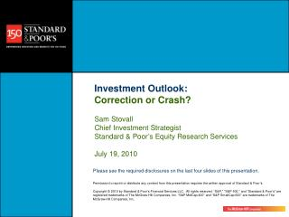 Investment Outlook: Correction or Crash?
