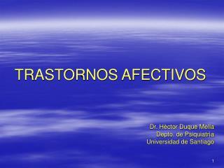 TRASTORNOS AFECTIVOS