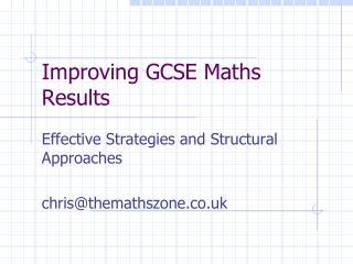 Improving GCSE Maths Results