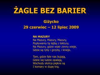 ŻAGLE BEZ BARIER