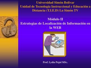 Universidad Sim�n Bol�var