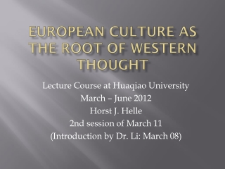 Musical Thought and Scholarship  Lecture IV