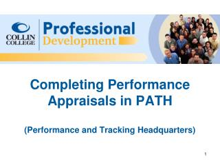 Completing Performance Appraisals in PATH (Performance and Tracking Headquarters)