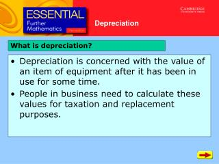 What is depreciation?