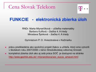 Cena Slovak Telekom
