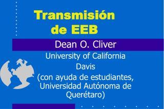 Transmisión de EEB