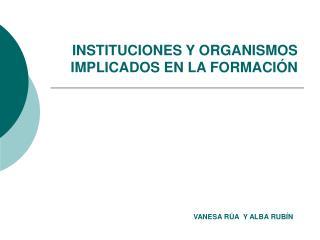 INSTITUCIONES Y ORGANISMOS IMPLICADOS EN LA FORMACIÓN