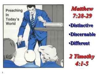 Matthew 7:28-29 Distinctive Discernable Different