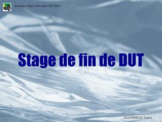 Stage de fin de DUT