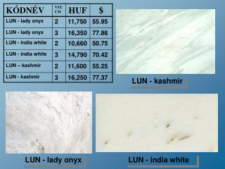 LUN -  lady onyx