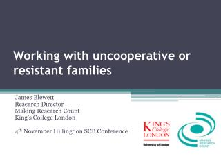 Working with uncooperative or resistant families