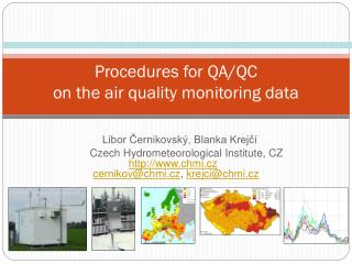 Procedures for QA/QC on the air quality monitoring data
