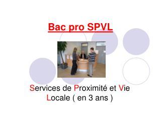 Bac pro SPVL