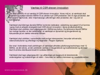 Værktøj til CSR-dreven innovation