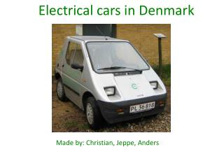 Electrical cars  in Denmark