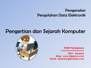 Pengenalan Pengolahan  Data  Elektronik