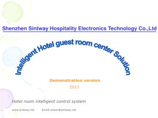 Shenzhen Sintway Hospitality Electronics Technology Co.,Ltd