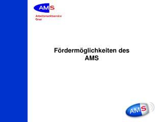 Fördermöglichkeiten des AMS
