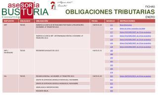 FICHAS OBLIGACIONES TRIBUTARIAS ENERO