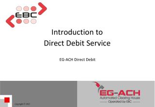 Introduction to  Direct Debit Service