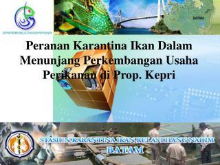 Peranan Karantina Ikan Dalam Menunjang Perkembangan Usaha Perikanan di Prop. Kepri