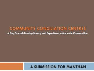 COMMUNITY CONCILIATION CENTRES