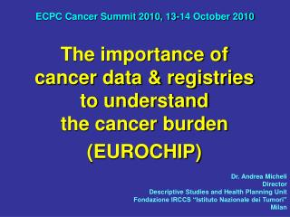 ECPC Cancer Summit 2010, 13-14 October 2010