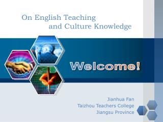 On English Teaching                 and Culture Knowledge