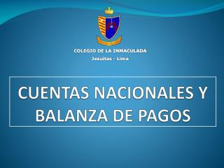 CUENTAS NACIONALES Y BALANZA DE PAGOS