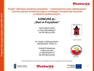 Program Operacyjny Kapitał Ludzki 2007-2013