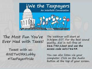 The Most Fun You've Ever Had with Taxes!