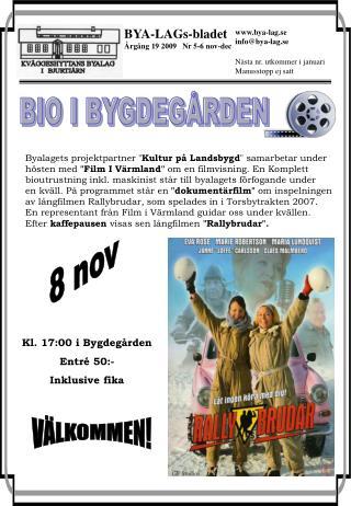 BYA-LAGs-bladet Årgång 19 2009   Nr 5-6 nov-dec