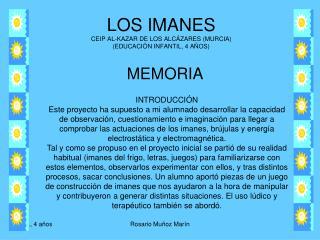 LOS IMANES CEIP AL-KAZAR DE LOS ALCÁZARES (MURCIA) (EDUCACIÓN INFANTIL, 4 AÑOS)