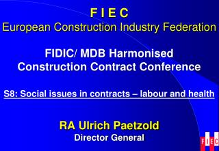 FIDIC/ MDB  Harmonised Construction  Contract Conference