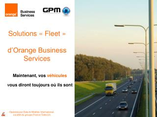 Solutions « Fleet » d'Orange Business Services