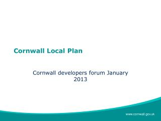Cornwall Local Plan